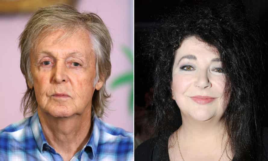 'Put the value of music back where it belongs' … Sir Paul McCartney and Kate Bush.