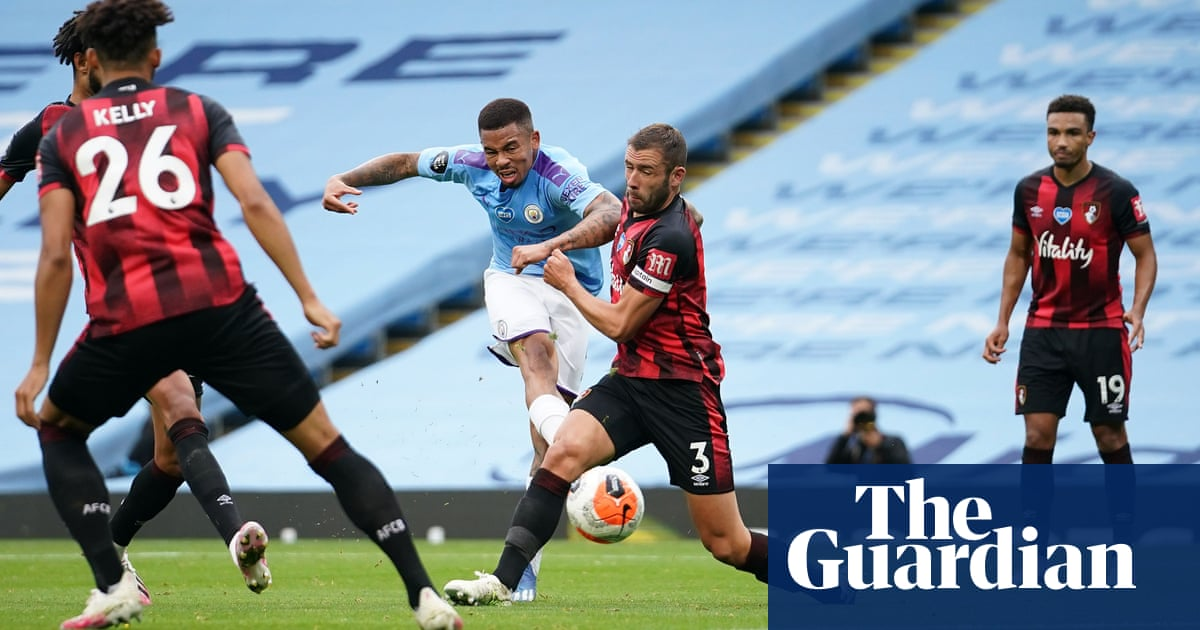 Gabriel Jesus's skill steers Manchester City past battling Bournemouth