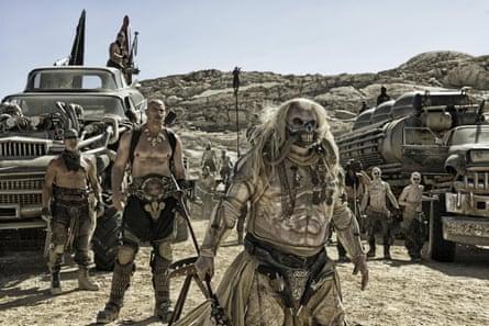 Hugh Keays-Byrne (front) as Immortan Joe in Mad Max: Fury Road