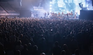 The band Love of Lesbian perform in concert at Palau Sant Jordi on March 27, 2021 in Barcelona, Spain.