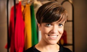 Stylist Lucy Knight styled-up writer Zoe Wood at John Lewis, Westfield.