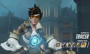 Tracer from Overwatch: her victory stance has caused controversy in the video game community