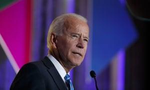 Joe Biden speaks at the 2019 Democratic women's leadership forum, October 2019, in Washington.