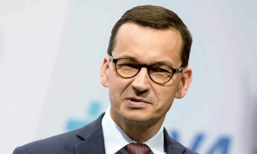 The Polish prime minister, Mateusz Morawiecki