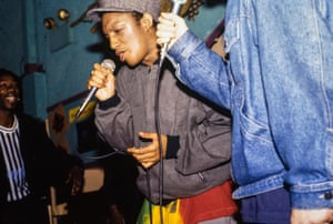On stage with Massive Attack in New York, October 1991