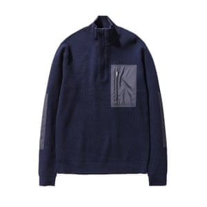 Navy funnel neck, £290, norseprojects.com.