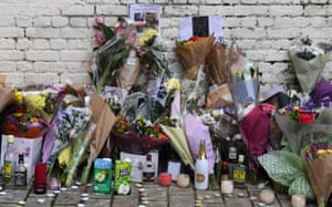 Tributes left for 18 year old Israel Ogunsola in Hackney, north east London. At least 35 people have been fatally stabbed in the capital since the beginning of 2018.
