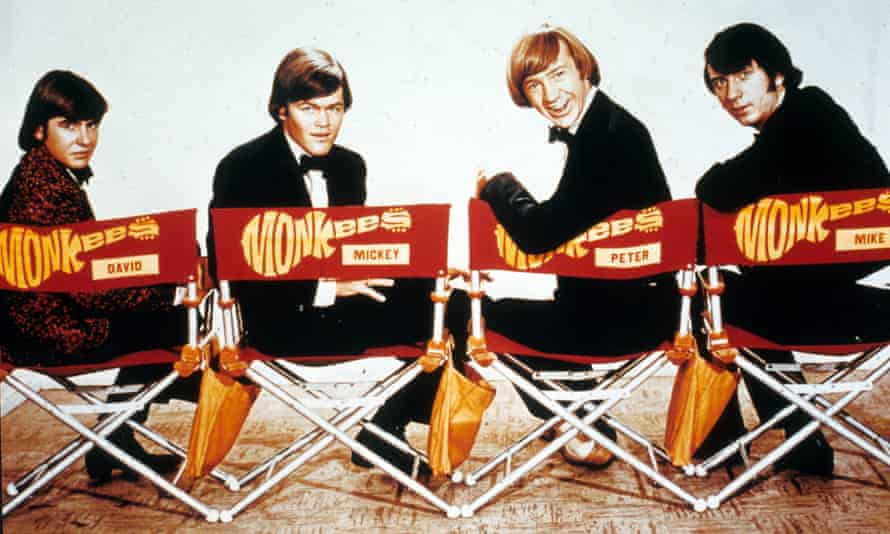 'Running parts for 4 insane boys': Peter Tork, second from right, on the set of The Monkees TV show in the late 60s, with, from left, Davy Jones, Micky Dolenz and Michael Nesmith.