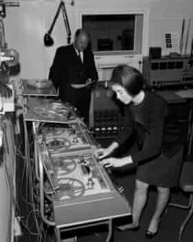 Delia Derbyshire in the BBC Radiophonic Workshop.