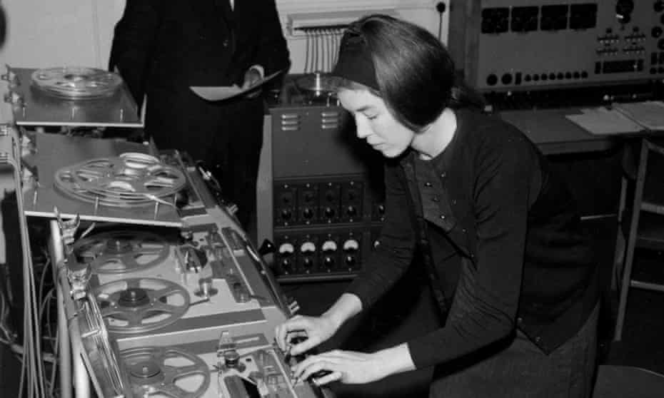 Delia Derbyshire in the BBC Radiophonic Workshop