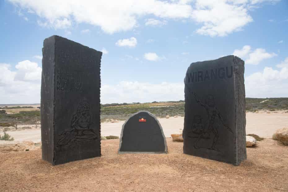 Black granite: the Waterloo Bay massacre memorial