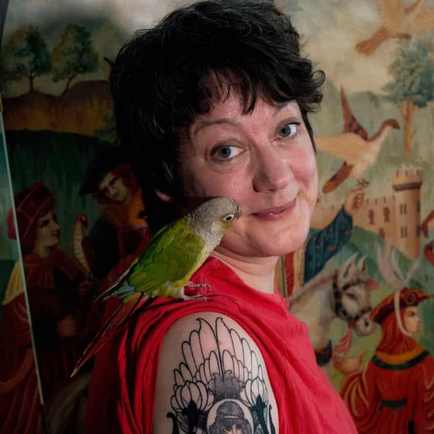 Macdonald with her parrot, Birdoole.
