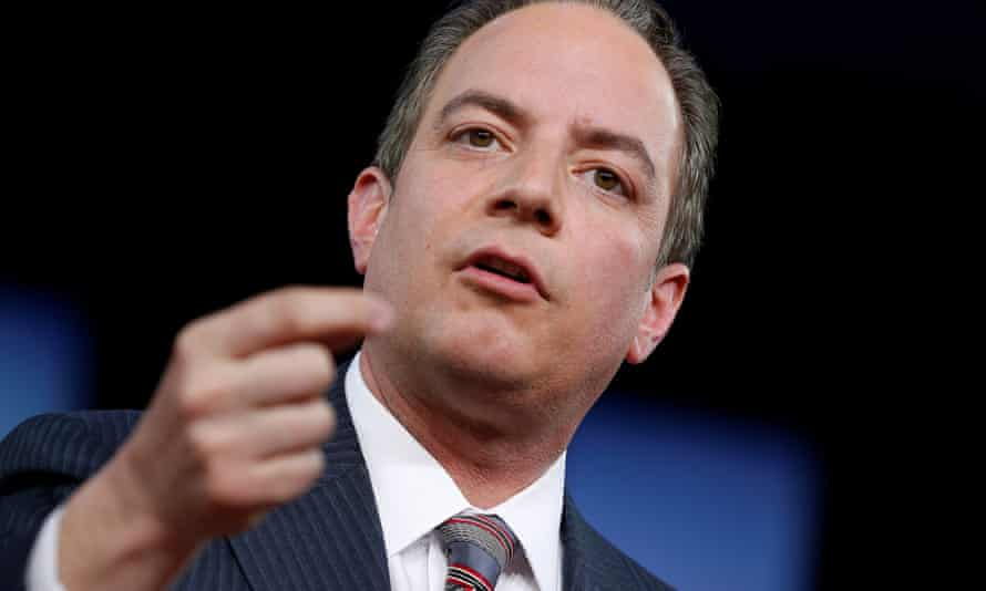 White House chief of staff Reince Priebus speaks at the Conservative Political Action Conference on Thursday.