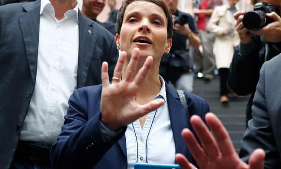 Frauke Petry of Alternative für Deutschland.