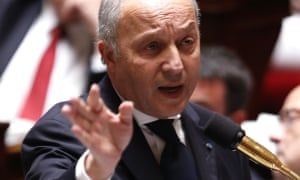 French foreign minister Laurent Fabius talks at the national assembly in Paris on Wednesday.