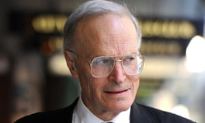 Dyson Heydon outside the royal commission offices in Sydney.