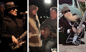Van Morrison, Patti Scialfa and Bruce Springsteen, and Billy Gibbons.