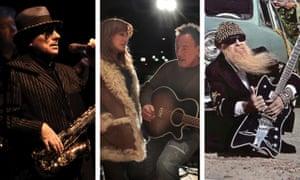 Van Morrison, Patti Scialfa y Bruce Springsteen y Billy Gibbons.