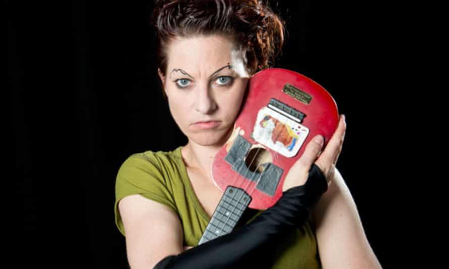 Amanda Palmer with her ukulele