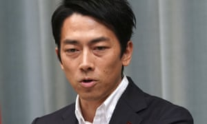 Newly appointed Japanese environment minister Shinjiro Koizumi who has called for nuclear reactors to be scrapped rather than restarted after Fukushima.
