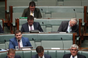 He'll be back for the June 18 sitting - Barnaby Joyce's backbench seat sits empty