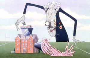 Still from The Wall by Pink Floyd, directed by Alan Parker, with animation by Gerald Scarfe