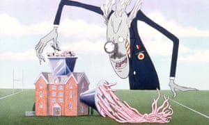 A 1982 film of Pink Floyd's The Wall featured artwork by cartoonist Gerald Scarfe.