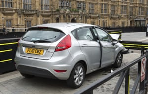 Metropolitan Police photo of the silver Ford Fiesta