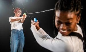 Olivia Onyehara (Simone) and Tanisha Spring (Cassi) in Shuck 'n' Jive