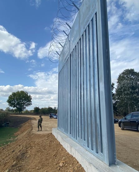 A digital representation of the new wall.