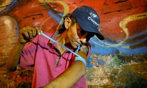 Wilson Pineda, a heroin user in Dosquebradas, Colombia, whose president is in favour of drugs reform.