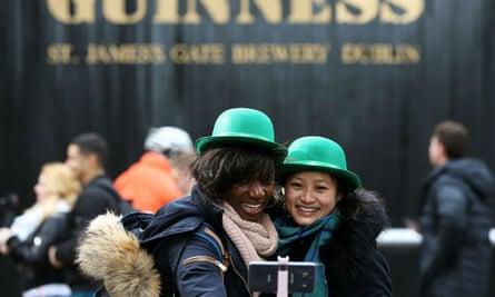 St Patrick's Day celebrations in Dublin.