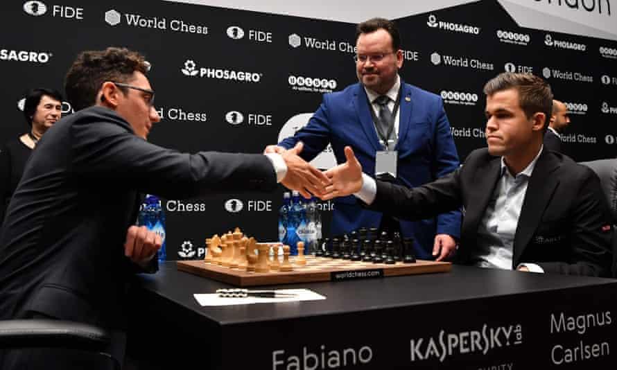 Fabiano Caruana and Magnus Carlsen