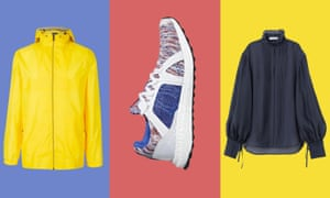 Recycled ... (from left) M&S mac; Stella McCartney/Adidas Parley Ultra Boost X trainers; shirt from H&M Conscious range.