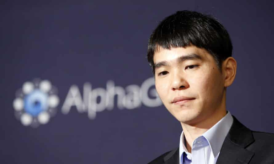 South Korean professional Go player Lee Sedol at the press conference.