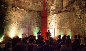 Liane Carroll, Sophie Bancroft and Sara Colman perform at the Grand Entrance Hall at Brunel Museum.