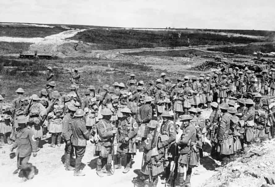 Roll Call of the 2nd Battalion, The Seaforth Highlanders, near Beaumont Hamel on the afternoon of 1 July 1916