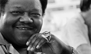 Fats Domino at the Grande Parade du Jazz event in Nice, 1985.