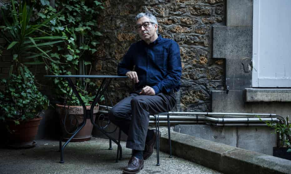 French author and philosopher Didier Eribon photographed near his home in Paris for the Observer