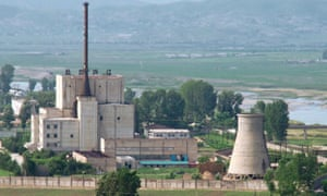 A 2008 image of North Korea's Yongbyon nuclear plant before the demolition of a cooling tower. Work continues at the site despite the recent pledges of progress towards denuclearisation.
