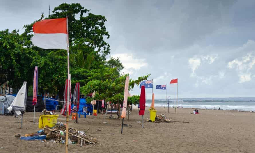 Legian beach in Bali
