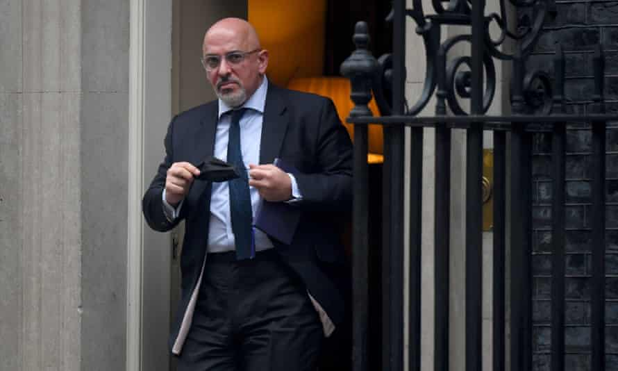 Vaccine Minister Nadhim Zahawi leaves 10 Downing Street, central London,  5 Jan 2021