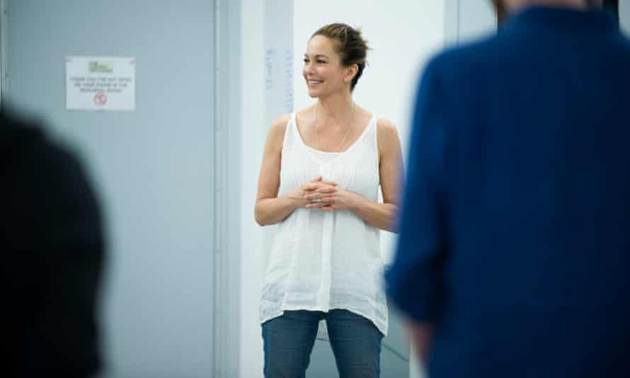 Diane Lane reheasing for The Cherry Orchard