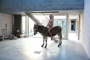'Can I ride the donkey? Can I be naked?': photographer Juergen Teller in his new London studio.