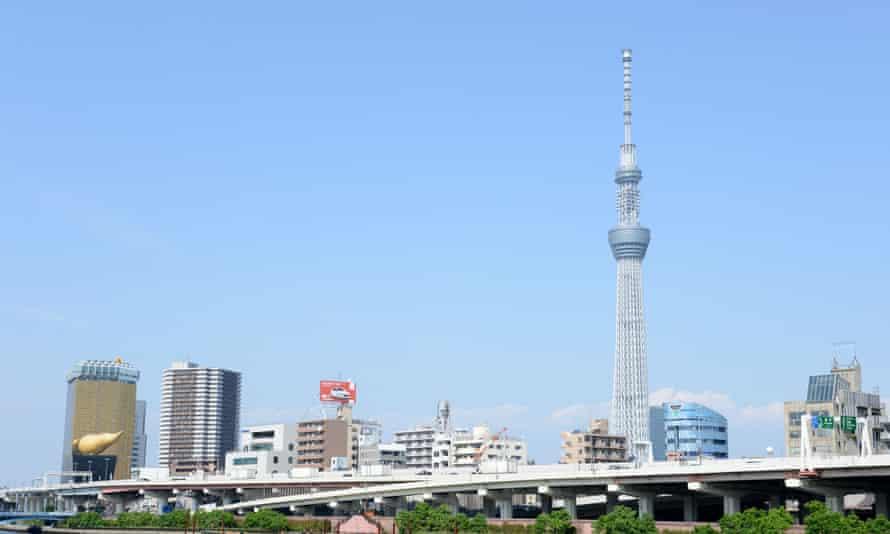 The 634-metre high Tokyo Skytree