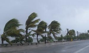 Hurricane Irma hits the Dominican Republic