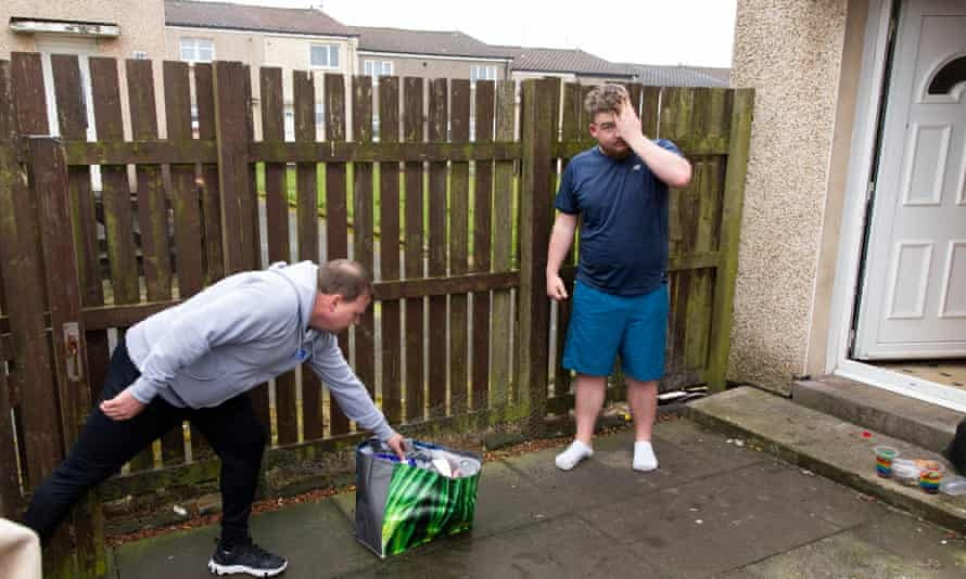 Community food delivery in Scotland in March, during the UK national lockdown.
