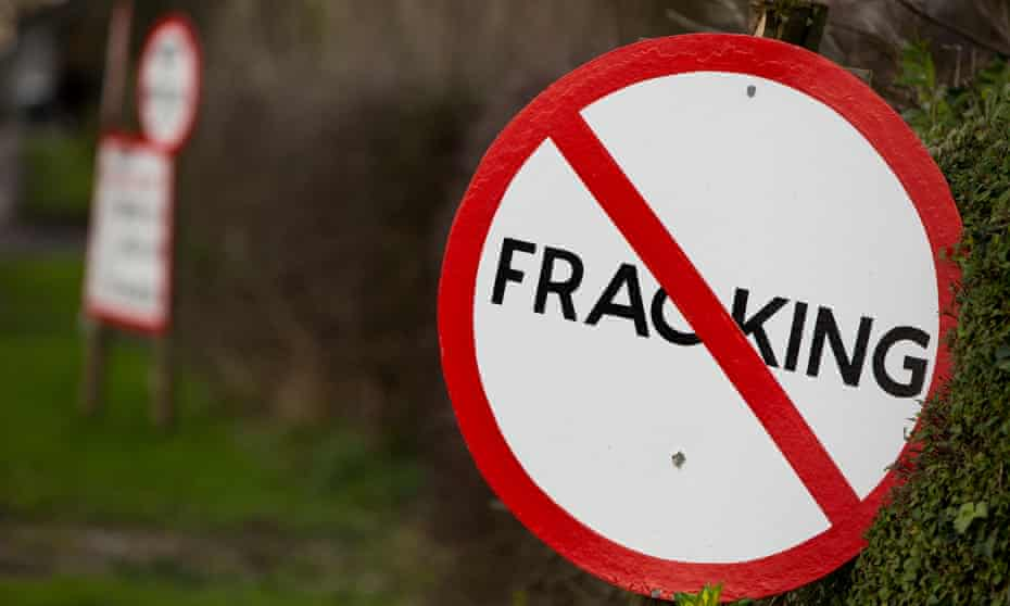 Corbyn's environmental and energy manifesto says that fracking is 'not compatible with climate change prevention'.
