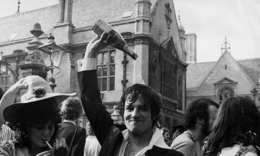 Oxford students celebrating