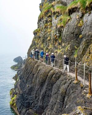 The Gobbins Cliff Path, near Islandmagee, County Antrim, Northern Ireland
